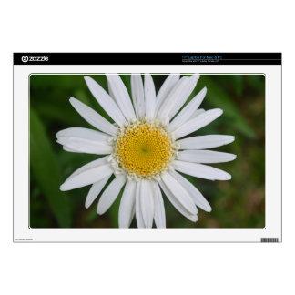 Diseño floral blanco y amarillo hermoso calcomanía para 43,2cm portátil