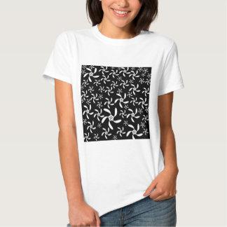 Diseño floral blanco y negro elegante elegante poleras