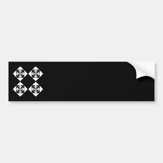 Diseño floral blanco y negro pegatina para auto