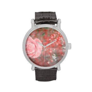 diseño floral blotched respiración color de rosa d