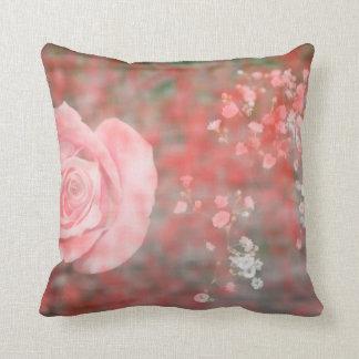 diseño floral blotched respiración color de rosa d cojin