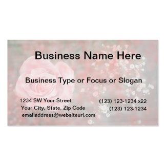 diseño floral blotched respiración color de rosa d tarjetas de negocios