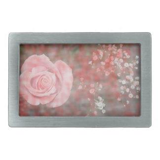 diseño floral blotched respiración color de rosa hebillas cinturón rectangulares
