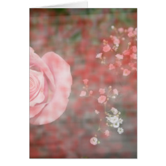 diseño floral blotched respiración color de rosa tarjeta de felicitación