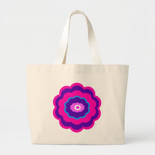Diseño floral bolsa lienzo