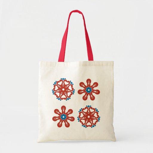 Diseño floral bolsa tela barata