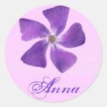 """Diseño floral bonito de las """"pequeñas flores etiqueta redonda"""