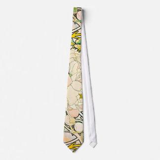 Diseño floral c1885 corbata personalizada