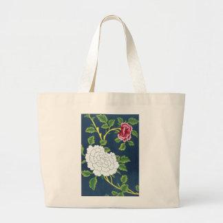 Diseño floral chino bolsa tela grande