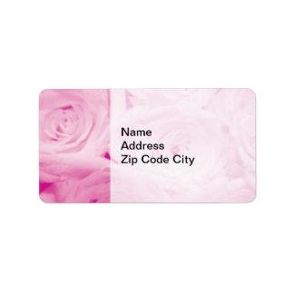 Diseño floral color de rosa rosado elegante de los etiquetas de dirección