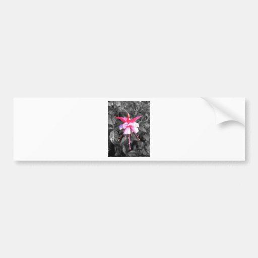 Diseño floral coloreado etiqueta de parachoque