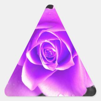 Diseño floral coloreado pegatina triangular