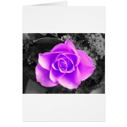 Diseño floral coloreado tarjeta de felicitación
