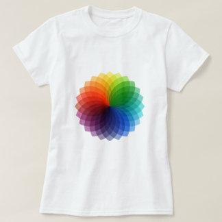 Diseño floral colorido abstracto playera