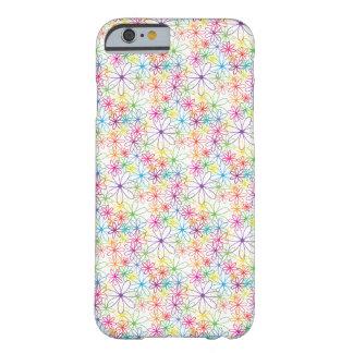 Diseño floral colorido - caso/piel del iPhone 6 Funda Barely There iPhone 6