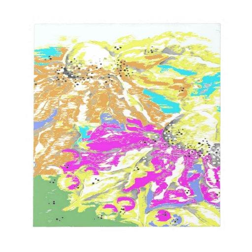 Diseño floral colorido del cono bloc de papel