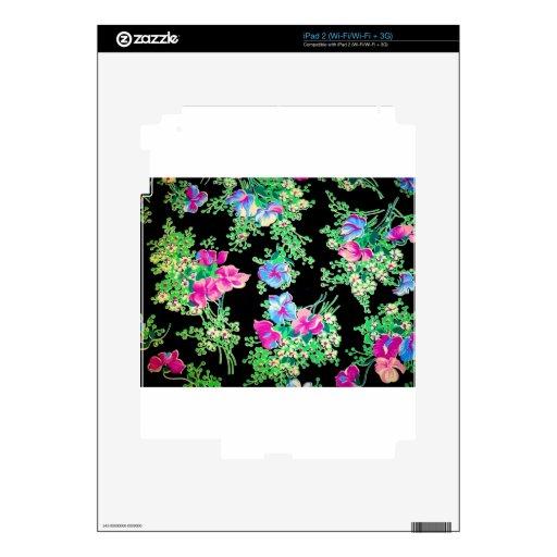 Diseño floral colorido impresionante calcomanía para iPad 2