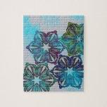 Diseño floral colorido puzzle