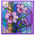 Diseño floral colorido servilletas de papel