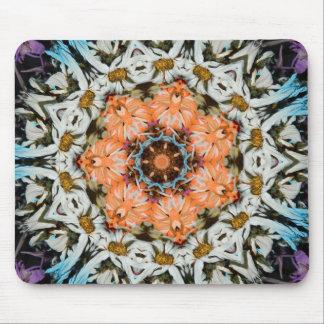 Diseño floral con noviembre de 2012 anaranjado mouse pads