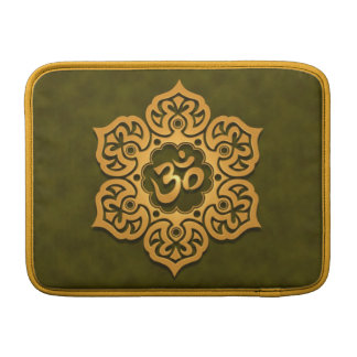 Diseño floral de Aum, verde Funda Macbook Air