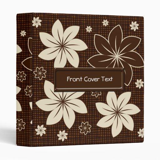 "Diseño floral de Brown Carpeta 1"""