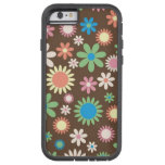 Diseño floral de Brown Funda De iPhone 6 Tough Xtreme