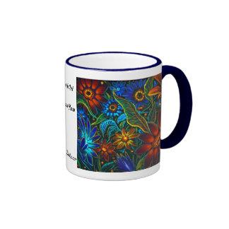Diseño floral de CBjork Avatar Taza De Dos Colores