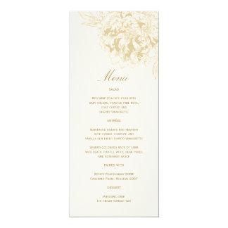 Diseño floral de encargo del Peony de la tarjeta Invitación 10,1 X 23,5 Cm