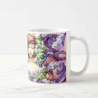 Diseño floral de la acuarela del Victorian Taza Clásica