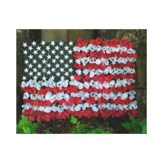 Diseño floral de la bandera impresion de lienzo