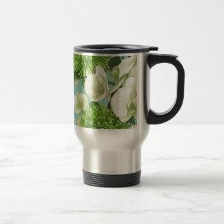 Diseño floral de la dalia taza térmica