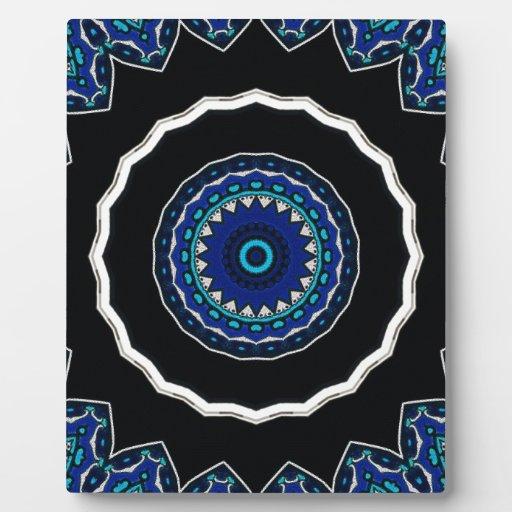 Diseño floral de la estrella de la teja del otoman placas de plastico