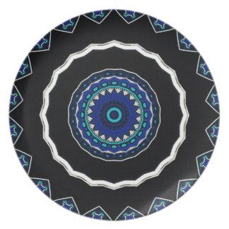 Diseño floral de la estrella de la teja del otoman platos
