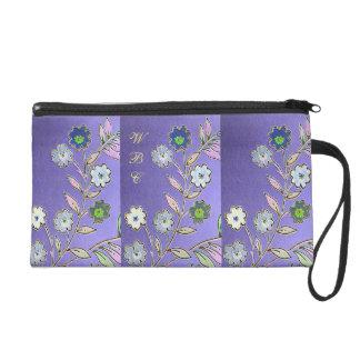 Diseño floral de la fantasía en púrpura, azul,