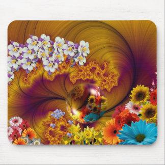 Diseño floral de la fantasía tapete de ratones