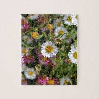 Diseño floral de la fotografía de la flor de la puzzles con fotos