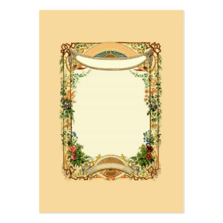 Diseño floral de la frontera de la página del tarjetas de visita grandes