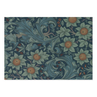 Diseño floral de la huerta del vintage de William  Tarjetas De Negocios
