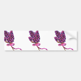 Diseño floral de la lila en flores del verano pegatina para auto