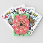 ¡Diseño floral de la mandala! Cartas De Juego