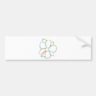 Diseño floral de la margarita pegatina para coche