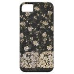 Diseño floral de la materia textil de la tela iPhone 5 Case-Mate coberturas