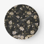 Diseño floral de la materia textil de la tela relojes