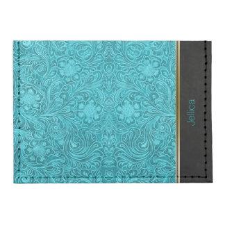 Diseño floral de la mirada del ante de las azules tarjeteros tyvek®