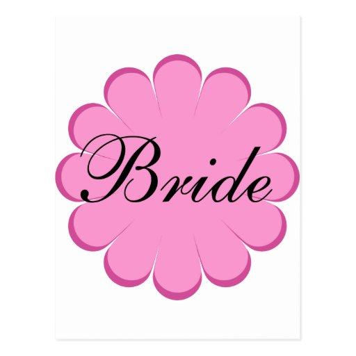 ¡Diseño floral de la novia! Postal