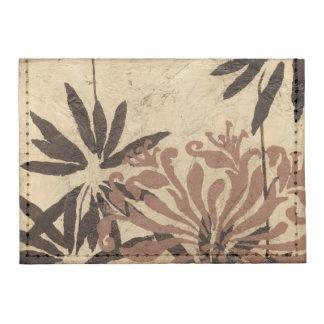 Diseño floral de la plantilla con las hojas tarjeteros tyvek®