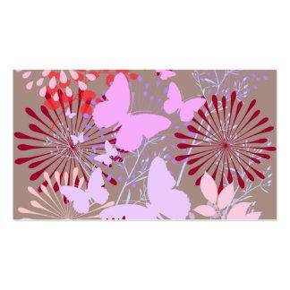 Diseño floral de la primavera del jardín de la mar plantillas de tarjetas personales