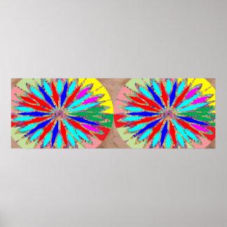 Diseño floral de la tira de Chakra del diamante Impresiones