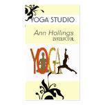 Diseño floral de la yoga del lirio plantillas de tarjetas personales